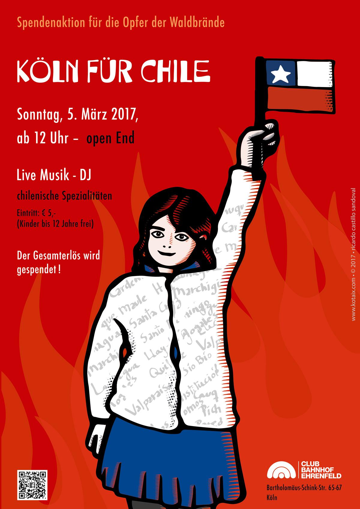 Poster Köln hilft Chile